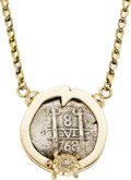 Estate Jewelry:Necklaces, Diamond, Ruby, Silver Coin, Gold Necklace, Sauro. ...