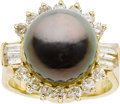 Estate Jewelry:Rings, South Sea Cultured Pearl, Diamond, Gold Ring. ...
