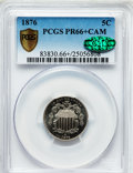 Proof Shield Nickels, 1876 5C PR66+ Cameo PCGS Secure. CAC....