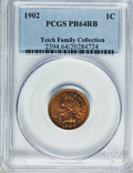 Proof Indian Cents: , 1902 1C PR64 Red and Brown PCGS. PCGS Population (106/87). NGCCensus: (64/75). Mintage: 2,018. Numismedia Wsl. Price for p...