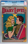 Golden Age (1938-1955):Romance, Diary Loves #2 (Quality, 1949) CGC VF 8.0 Off-white pages....