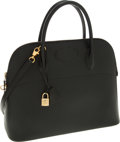 Luxury Accessories:Bags, Hermes 37cm Black Ardennes Leather Sellier Bolide Bag with Gold Hardware. ...