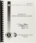Autographs:Celebrities, NASA Summary of Gemini Extravehicular Activity Book Reprint Signed by Buzz Aldrin. ...