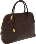Luxury Accessories:Bags, Hermes 37cm Havane Evergrain Leather Sellier Bolide Bag with GoldHardware. ...