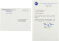 Autographs:Celebrities, Buzz Aldrin Typed Letter Signed. ... (Total: 3 Items)