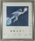 "Autographs:Celebrities, Alan Bean Large Limited Edition ""Reaching for the Stars"" TexturedCanvas Print Signed by Twenty-Six Astronauts Directly from t..."