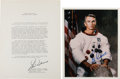 Autographs:Celebrities, Gene Cernan Typed Biography and Color Photo Signed. ... (Total: 2Items)