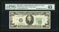 Error Notes:Shifted Third Printing, Fr. 2074-H $20 1981A Federal Reserve Note. PMG Choice Extremely Fine 45.. ...