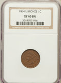 Indian Cents: , 1864 1C L On Ribbon XF40 NGC. NGC Census: (59/602). PCGS Population(109/638). Mintage: 39,233,712. Numismedia Wsl. Price f...