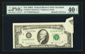 Error Notes:Foldovers, Fr. 2028-D $10 1988A Federal Reserve Note. PMG Extremely Fine 40EPQ.. ...