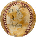 Baseball Collectibles:Balls, 1943 Joe Gordon World Series Game One Home Run Baseball, SingleSigned....