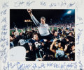 Football Collectibles:Photos, 1986 New York Giants Team Signed Oversized Photograph - Super Bowl XXI Champions!...
