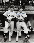 Autographs:Photos, Circa 1990 Joe DiMaggio & Mickey Mantle Signed Large Photograph....