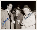 Autographs:Photos, 1970's Joe DiMaggio, Joe McCarthy & Larry MacPhail Signed NewsPhotograph....