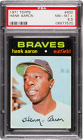 Baseball Cards:Singles (1970-Now), 1971 Topps Hank Aaron #400 PSA NM-MT+ 8.5....