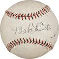Autographs:Baseballs, The Finest Babe Ruth & Lou Gehrig Dual-Signed Baseball onEarth....