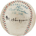 Autographs:Baseballs, Circa 1923 Miller Huggins & Babe Ruth Multi SignedBaseball--Huggins Displays as a Single!...