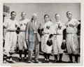 Autographs:Photos, 1951 New York Yankees Managers Reunion Multi-Signed NewsPhotograph....
