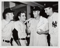 Autographs:Photos, 1952 Mickey Mantle & Yankee Teammates Signed News Photograph....