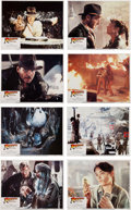 Movie/TV Memorabilia:Posters, Raiders of the Lost Ark Lobby Cards (1981).... (Total: 8Items)