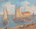 American:Still Life, AMERICAN SCHOOL (20th Century). Sail Boats. Oil on canvas.15 x 18 inches (38.1 x 45.7 cm). Bears signature and date low...