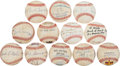 Autographs:Baseballs, Negro League Greats Single Signed Baseballs Lot Of 12 (Including 3Buck Leonard's)....