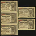 Miscellaneous:Other, Chicago, IL- Postal Note Type V 1¢ June 30, 1894 Five ConsecutiveExamples. ... (Total: 5 notes)