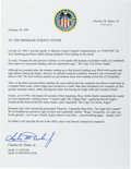 Autographs:Celebrities, Charlie Duke Typed Letter Signed Regarding Apollo 11 Landing. ...