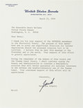 Autographs:Celebrities, Harrison Schmitt Typed Letter Signed as U.S. Senator. ...