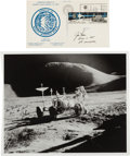 Autographs:Celebrities, Jim Irwin: Two Signed Apollo 15 LRV-Related Items.... (Total: 2 Items)
