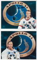 Autographs:Celebrities, Apollo 14 Moonwalkers: Individual Signed White Spacesuit ColorPhotos.... (Total: 2 Items)