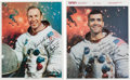 Autographs:Celebrities, Apollo 13: Two Signed White Spacesuit Color Photos.... (Total: 2Items)