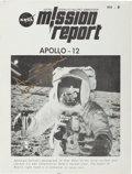 "Autographs:Celebrities, Alan Bean: Signed Apollo 12 NASA ""Mission Report""...."
