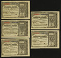 Miscellaneous:Other, Omaha, NE- Postal Note Type V 1¢ June 30, 1894 Five Examples withReturn Letter and Cover. ... (Total: 7 items)