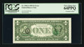 Error Notes:Third Printing on Reverse, Fr. 1918-A $1 1993 Federal Reserve Note. PCGS Very Choice New 64PPQ.. ...
