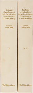 Books:Books about Books, [Books About Books]. Hugh Wm. Davies [editor]. Catalogue of a Collection of Early German Books in the Library of C. Fair... (Total: 2 Items)