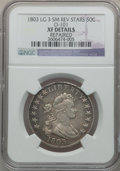 Early Half Dollars, 1803 50C Large 3, Small Reverse Stars -- Repaired -- NGC Details.XF. O-101, R.3....