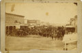 Photography:Cabinet Photos, CALDWELL, KANSAS CABINET CARD STREET SCENE 1880s. This cabinet cardphotograph is the town where the Marshal, Henry Brown w... (Total:1 Item)