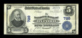 National Bank Notes:Pennsylvania, Oxford, PA - $5 1902 Plain Back Fr. 598 The NB of Oxford Ch. # 728. ...