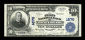 National Bank Notes:Pennsylvania, Honeybrook, PA - $10 1902 Plain Back Fr. 626 The First NB Ch. #1676. ...