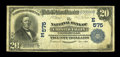 National Bank Notes:Pennsylvania, Coatesville, PA - $20 1902 Plain Back Fr. 650 The NB of ChesterValley Ch. # (E)575. ...