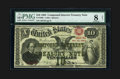 Large Size:Compound Interest Treasury Notes, Fr. 190b $10 1864 Compound Interest Treasury Note PMG Very Good 8Net....