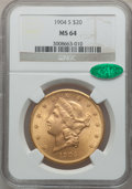 Liberty Double Eagles, 1904-S $20 MS64 NGC. CAC....
