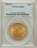 Liberty Eagles: , 1904-O $10 MS63 PCGS. PCGS Population (73/18). NGC Census: (43/12).Mintage: 108,950. Numismedia Wsl. Price for problem fre...
