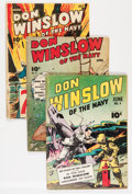 Golden Age (1938-1955):War, Don Winslow of the Navy Group (Fawcett Publications, 1943-51)....(Total: 7 Comic Books)
