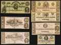 Confederate Notes:Group Lots, Confederate Group Lot.. ... (Total: 7 notes)