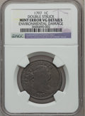 Large Cents, 1797 1C Reverse of 1796, Gripped Edge -- Double Struck,Environmental Damage -- NGC Details. VG. S-121b, B-3b, R.3....