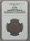 Large Cents, 1798 1C Second Hair Style VF35 NGC. S-171, B-30, R.4....