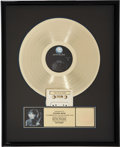 Music Memorabilia:Awards, Led Zeppelin Jimmy Page Outrider Gold Record Award and TourJacket (Geffen Records, 1988).... (Total: 2 Items)