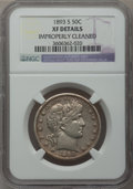 Barber Half Dollars: , 1893-S 50C -- Improperly Cleaned -- NGC Details. XF. NGC Census:(2/67). PCGS Population (5/102). Mintage: 740,000. Numisme...